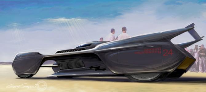 Futuristic Streamliner